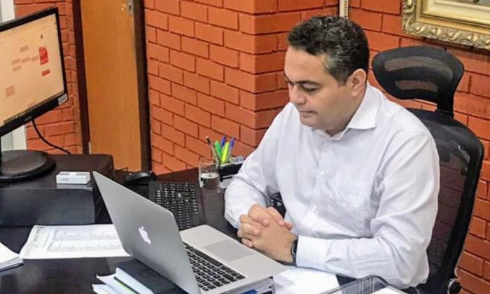 Jairo Mariano, durante reunião on-line com representantes do rally Sertões