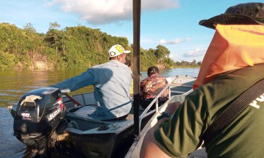 Operação Piracema-Cantão aborda embarcação com pescadores sem licença do órgão ambiental