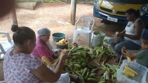 Aproveitando a safra, produtores venderam 708 quilos de milho verde; entidade aproveita para fazer pamonhas