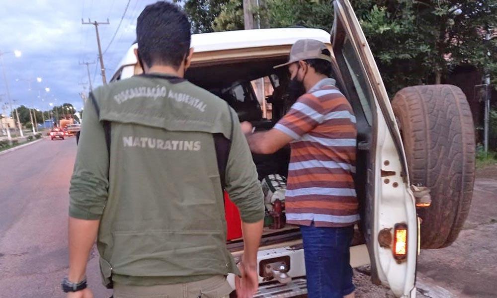 Fiscalização Integrada aborda veículos - Naturatins/Governo do Tocantins