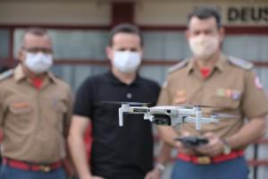 O Drone será usado para ações do Corpo de Bombeiros Militar, Defesa Civil Estadual e Comitê do Fogo