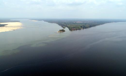 Encontro das águas do Rio Araguaia com o Rio Tocantins