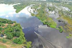 Registro da área do Parque Estadual do Cantão feita por drone