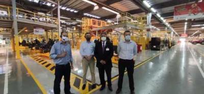 Foto 1 - Secretário Tom Lyra realizou visitas a empresas na região Sul com o objetivo de prospectar novos investidores (Ascom Sics)_400.jpg