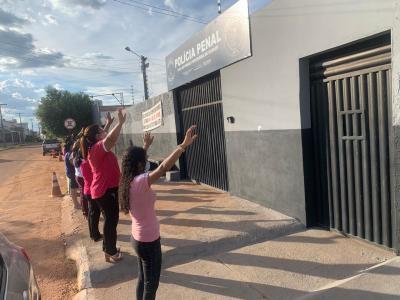 A Unidade Penal de Gurupi também recebeu orações das mulheres membros da igreja Universal