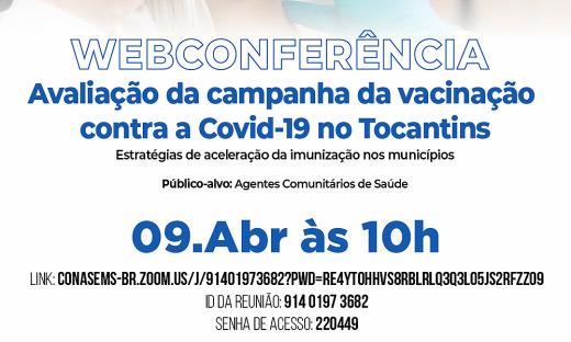 Última webconferência será com agentes comunitários de saúde
