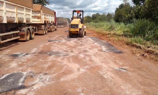 Equipes atuam de forma intensa na manutenção da rodovia