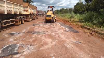 Equipes atuam de forma intensiva na manutenção da rodovia.