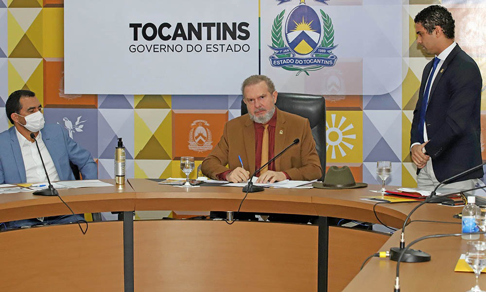 O governador Mauro Carlesse ressaltou a importância de ter o segmento empresarial como parceiro da gestão - Washington Luiz/Governo do Tocantins