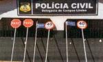 Placas foram arrancadas pelos suspeitos na cidade de Campos Lindos