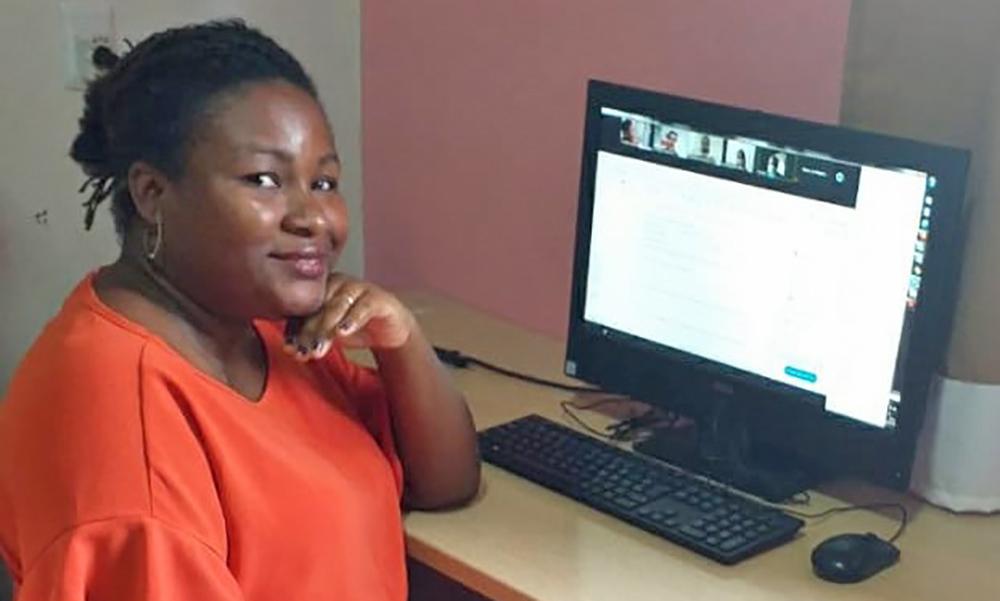 A assessora de Educação Integral da DRE de Miracema, Evelyn Monique dos Santos, agradeceu pela oportunidade de participar do projeto Escravo nem pensar - Seduc/Governo do Tocantins