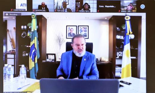 Membros do Comitê de Crise de Prevenção e Combate à Covid-19 reuniram-se nesta quarta-feira, 28