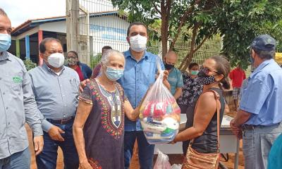 Os kits de alimentos foram entregues no distrito de Buritirana, PA Entre Rios, PA Veredão, PA dos Agricultores Palmense, Serra do Taquaruçu e PA Sítio - Vice-Governadoria/Governo do Tocantins