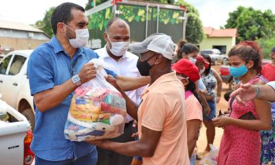 Para o vice-governador essa é uma das medidas de proteção social do Governo do Tocantins que visa atender as famílias mais vulneráveis afetadas pela pandemia - Vice-Governadoria/Governo do Tocantins
