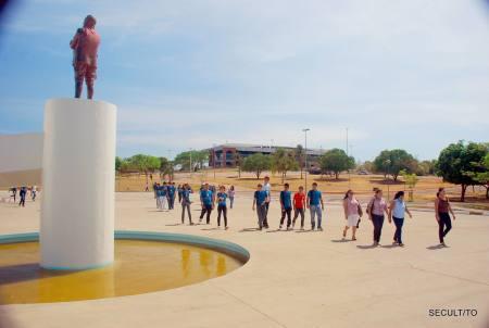 No Memorial Coluna Prestes, os estudantes viram de perto objetos e utensílios utilizados pelos integrantes da Marcha de Luiz Carlos Prestes pelo Brasil