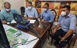 Secretário Jaime Café, ao lado do prefeito de Formoso do Araguaia, Bueno Rodrigues, apresentou a live, governo municipalista