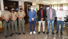 Governador recebeu presidentes de associações militares que agradeceram pelo apoio e pela sensibilidade da Gestão Estadual