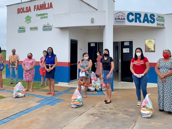 O Cras do município de Carmolândia recebeu 150 kits de alimentos