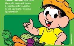 A cartilha é da WWF-Brasil, em parceria com a Mauricio de Souza Produções