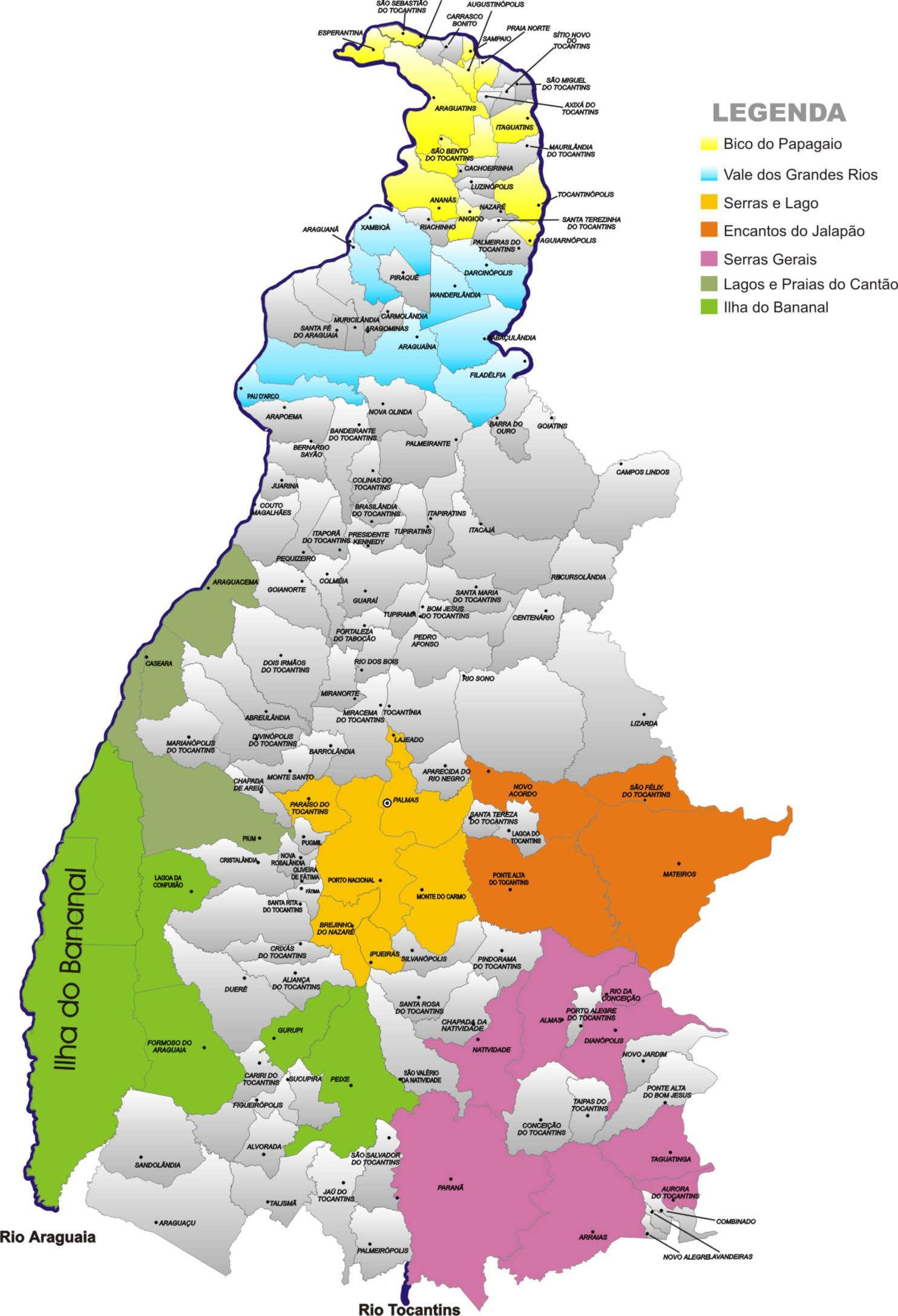 Todas regiões turísticas
