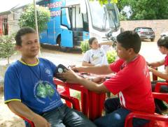 A ida do Hemóvel para o município pela primeira vez chamou a atenção dos doadores e incentivou outras pessoas a exercerem o gesto de solidariedade