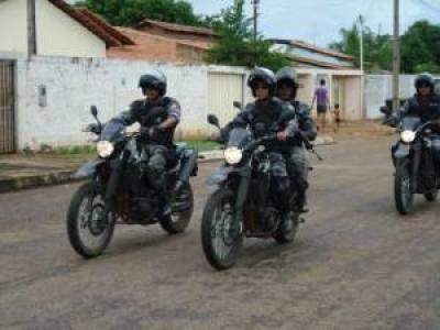 Motociclistas do GIRO/CIOE