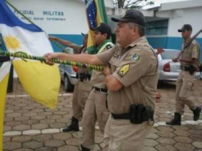 Solenidade de homenagem aos policiais destaques.
