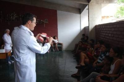 Palestras com os profissionais de saúde